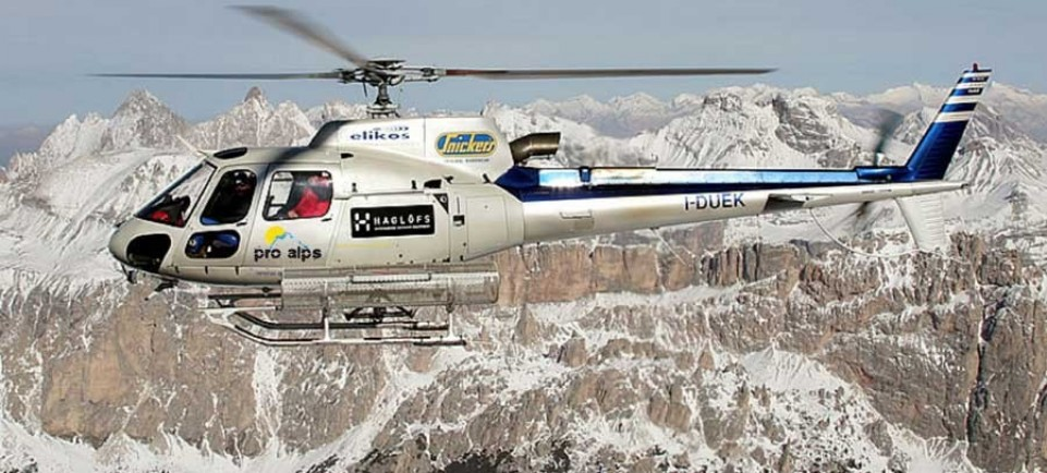 Helicopter Tours over the Dolomites